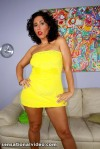 VanessaBlakeYellowDress.kushions